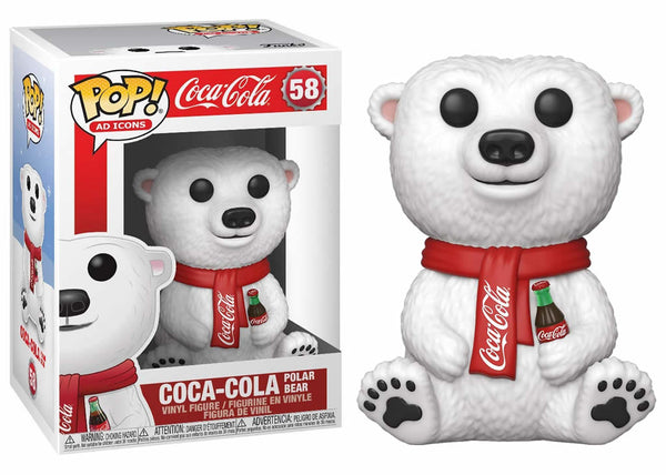 41732 - Funko Pop Ad Icons - Coca Cola Polar Bear Pop! Vinyl