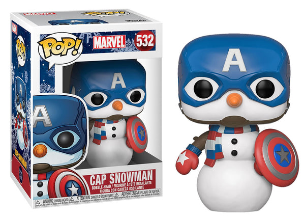 43335 - Funko Pop Marvel Holiday - Captain America Snowman Pop! Vinyl