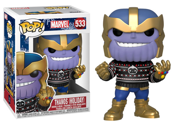 43336 - Funko Pop Marvel Holiday - Thanos with Christmas Sweater Pop! Vinyl