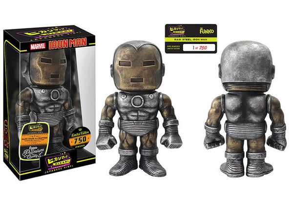 Marvel - Raw Steel Iron Man Hikari Sofubi Vinyl Figure [LE 750]