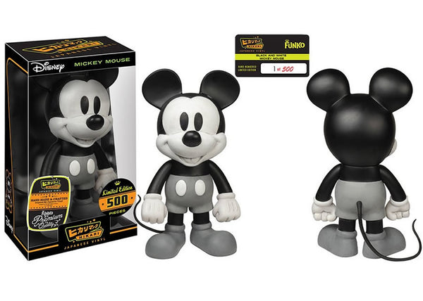 Disney - Black & White Mickey Mouse Hikari Sofubi Vinyl Figure [LE 500]