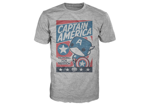 Captain America - Fight For Justice Pop! Tee