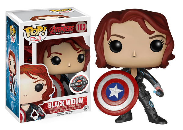 Marvel Captain America - Black Widow With Shield Pop! Vinyl