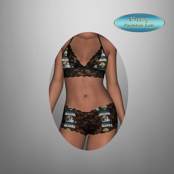 926bb780 Jacksonville Jaguars black lace top - lace boy shorts lingerie