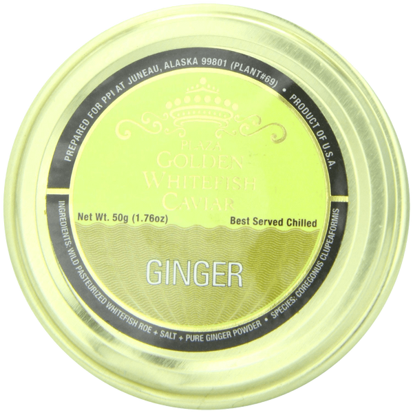 Plaza Premium Quality Golden Whitefish caviar Ginger Infused