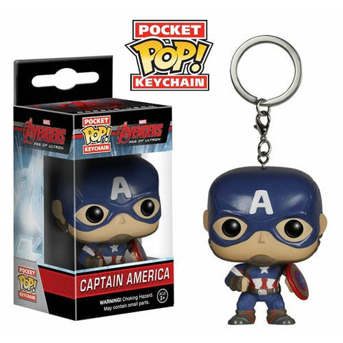 Avengers Age of Ultron Captain America Pocket Pop! Vinyl Figure Key Chain