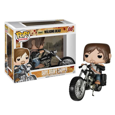 The Walking Dead Daryl Dixon with Chopper Pop! Vinyl Vehicle