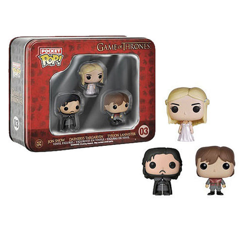 Game of Thrones Pocket Pop! Mini Vinyl Figure 3-Pack Tin