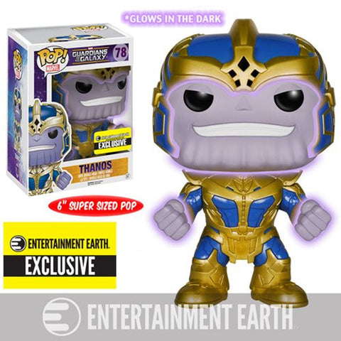 Guardians of the Galaxy Thanos Glow-in-the-Dark 6-Inch Pop! Vinyl Bobble Head Figure - <p><b><font color=black>Entertainment Earth Exclusive</></b></p>