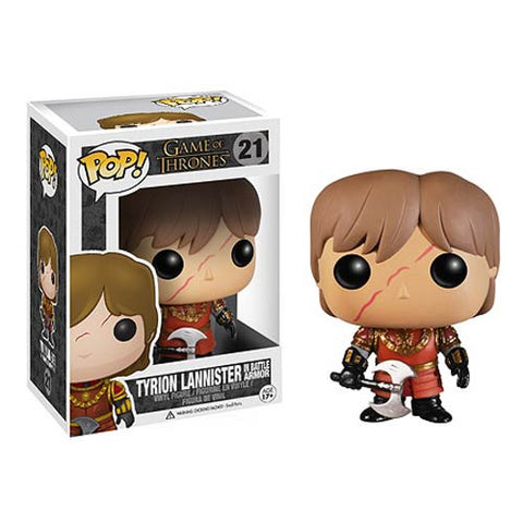 Game of Thrones Tyrion Lannister with Scar and Battle Armor Pop! Vinyl Figure