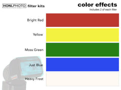 Honl Photo 10 piece Color Filter Kits for Speedlight Flash