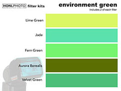 Honl Photo Environment Green Filter Kit for Speedlight Flash