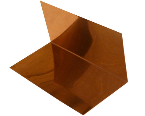 4 x 4 x 8 Copper Step Flashing