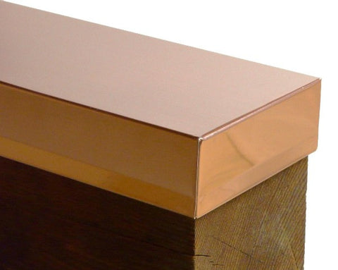 Square Copper Beam Caps