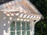 Copper Beam Caps Over Shade Roof
