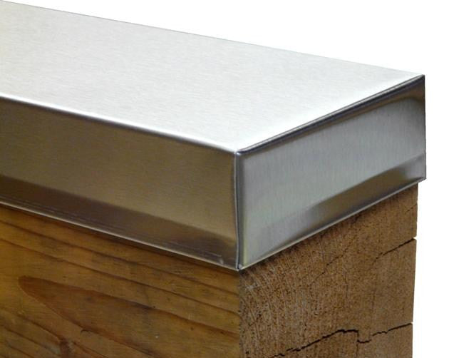 Square Stainless Beam Caps Sheet Metal Caps