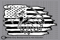 Bald Eagle Freedom 1776 American flag sticker Decal