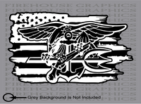 US Navy Seal Frogmen Special Forces American flag sticker decal