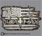 American Flag Duramax Chevrolet Chevy Whitetail Buck Skull Hunting Deer Decal