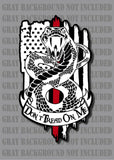Thin Red Line Don't Tread On Me Gadsden Firefighter Fire American Flag Decal