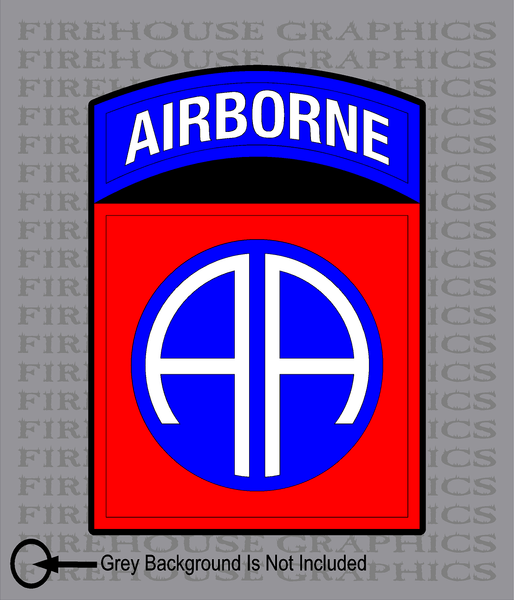 82nd Airborne Division Army American Flag sticker decal