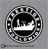 Prestige worldwide boats and hoes Center Console Stepbrothers decal sticker