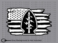 US Army Ranger Special Forces Soldier American flag sticker decal