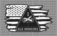 1st Armored Division Ironsides Army American Flag sticker decal