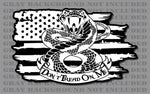 Don't Tread On Me 1776 We The People Liberty Gadsden Rattlesnake American Flag