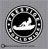 Prestige worldwide boats and hoes Jon boat skiff Stepbrothers decal sticker