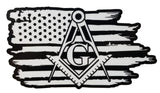 Stonemason Mason Masonic Freemason American flag sticker Decal