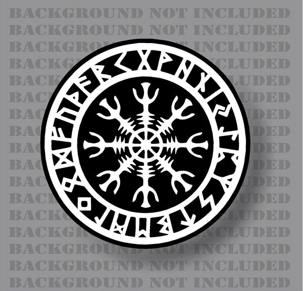 Seal Odin Thor viking Norse helm of awe rune protection sticker decal
