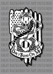 Gadsden Don't Tread On Me 1776 We The People Snake American Flag sticker decal