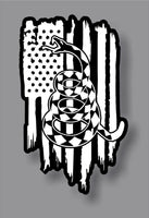 Gadsden Don't Tread On Me Rattlesnake 1776 2A We The American Flag sticker decal