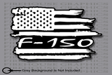 Ford F-150 F150 Truck American flag sticker Decal