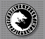 Odin Thor Viking Norse Wolf Seal Sticker Decal Wolves Ying yang Awe Protection