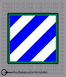 3rd Infantry Division Army Marne American Flag sticker decal