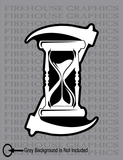 Father Time Hourglass Scythe Grim Reaper Death Vinyl sticker decal