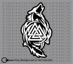 Odin Thor Viking Tribal Norse Wolf Valknut sticker decal