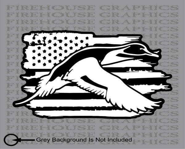 Pintail Duck Drake Hunting Teal Mallard Decoy American flag vinyl sticker decal