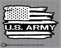 US Army Soldier Veteran American flag Military United States sticker decal