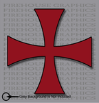 Knights Templar Red Cross Seal Catholic Christian Mason sticker decal