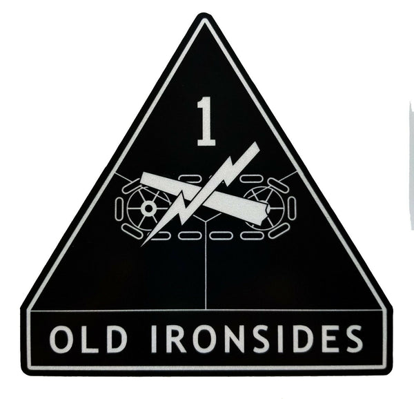 1st Armored Division Ironsides Army Veteran Military American Flag Sti  U2013 Firehouse Graphics