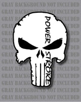 Punisher Skull Ford Powerstroke F250 F350 Diesel Truck sticker decal