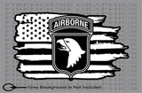 101st Airborne Division Army American Flag Veteran weathered vinyl sticker decal