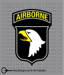 101st Airborne Division Army American Flag sticker decal