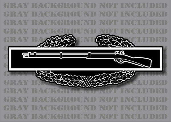 Reflective Combat Infantryman Badge CIB Rifle US Army Infantry Ranger Military