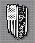 American Flag We The People 1776 2a Liberty Freedom weathered 3% Decal Sticker