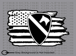 US Army 1st Cavalry Division 1st Cav American flag sticker decal