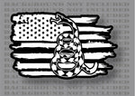 Gadsden flag don't tread on me Rattlesnake American flag vinyl sticker decal